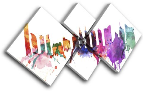 Dubai Watercolour Abstract City - 13-6002(00B)-MP19-LO
